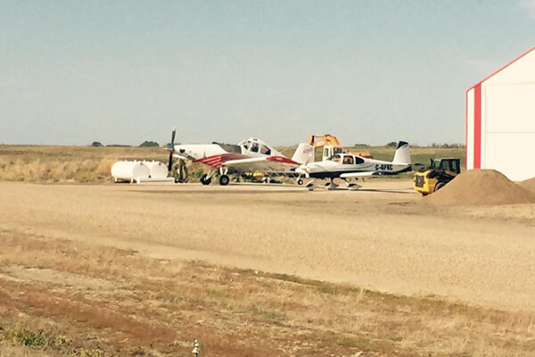 Two Crop Dusting Planes